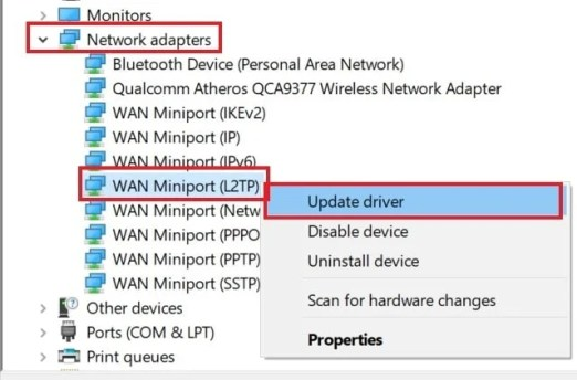 обновить драйвер Miniport