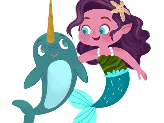 Characters Violet and Wally from Undersea Mystery Club