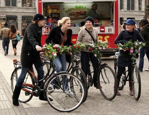 Fietspuzzeltocht Amsterdam.