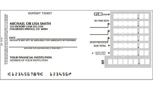 10 deposit slip templates excel templates for Checking deposit slip template