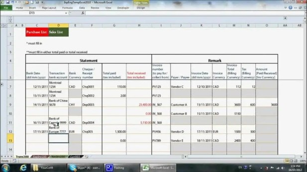 8+ Excel Bookkeeping Templates - Excel Templates