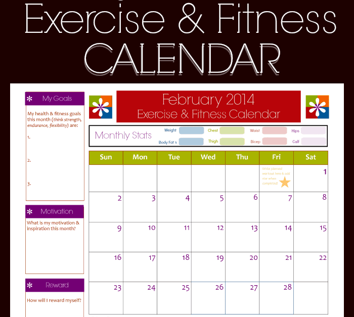 9 fitness calendar templates excel templates. Black Bedroom Furniture Sets. Home Design Ideas