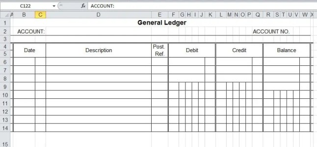 Excel General Ledger Templates Excel Templates - Business ledger template