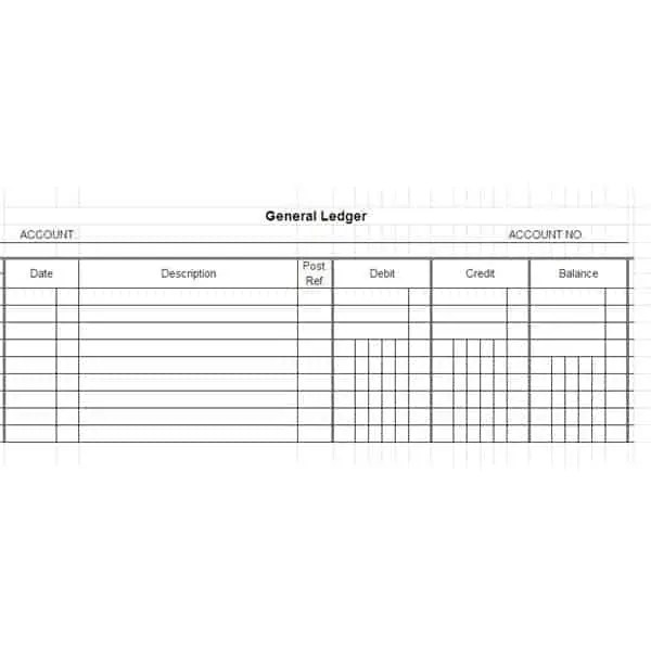 Excel General Ledger Templates  Excel Templates