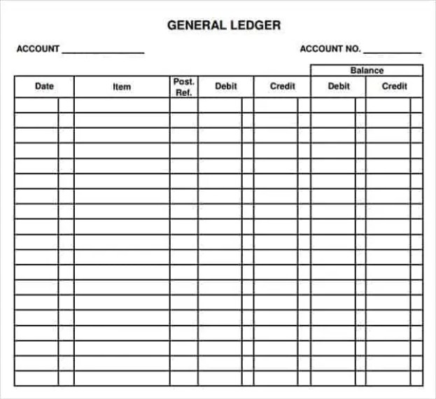 accounting ledger sheets