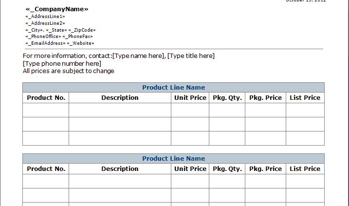 service sheet template