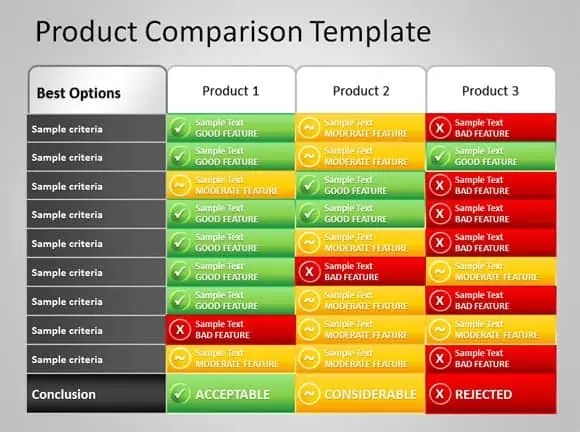Product Comparison Templat 222  Comparison Grid Template