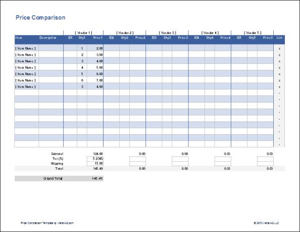 product comparison templat 333