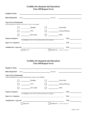 Lovely Time Off Request Form Template 777