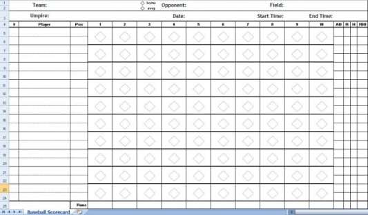 baseball score sheet temlate 142