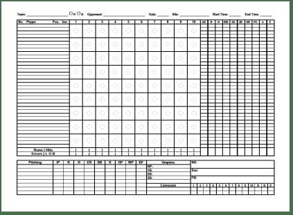 9+ Baseball Score Sheet Templates - Excel Templates