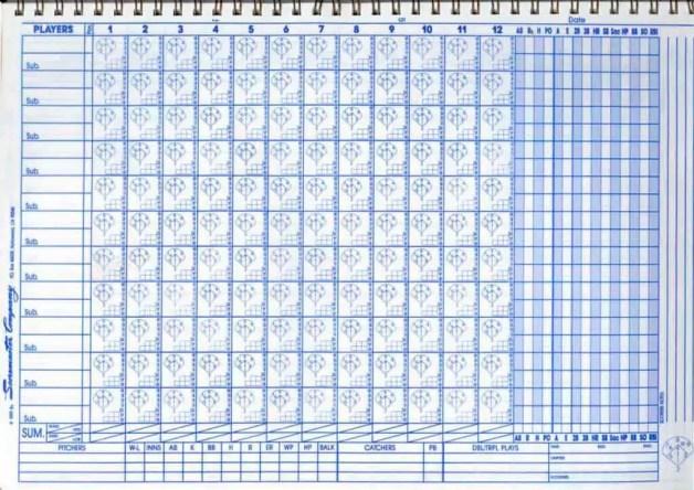 baseball scorecard 55