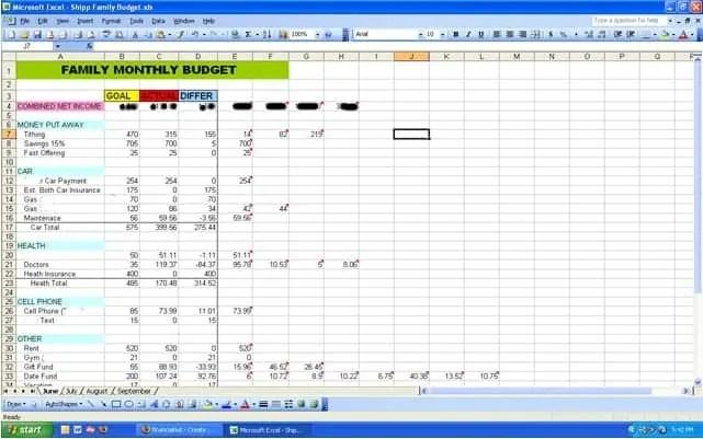 Sample Budget Worksheet. Blank Monthly Budget Worksheet 25+ Best ...