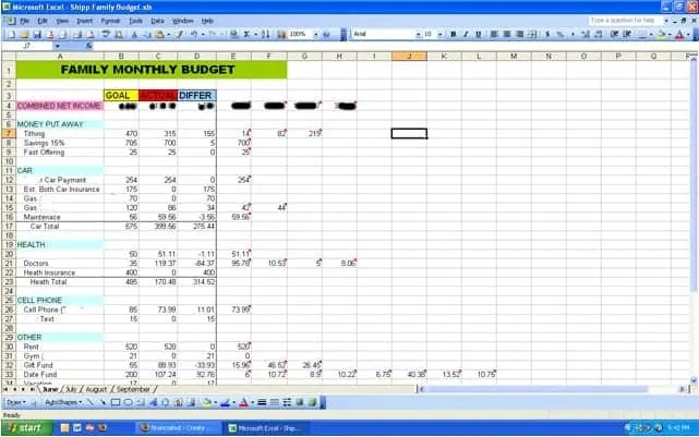 Excel Budget Worksheet Template  Excel Templates