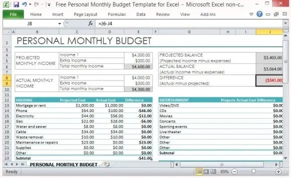 9+ Excel Budget Worksheet Template
