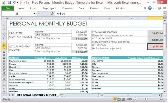 budget worksheet template 9741121