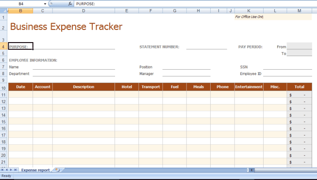 8 business expense tracker templates excel templates business expense tracker template flashek Image collections