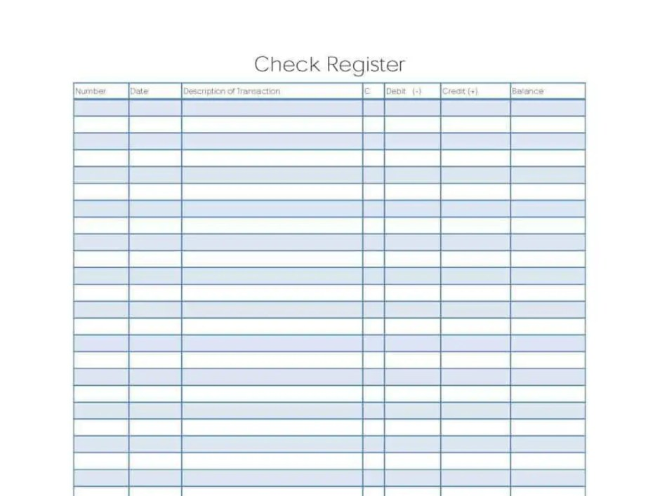 Excel Checkbook Register Templates  Excel Templates