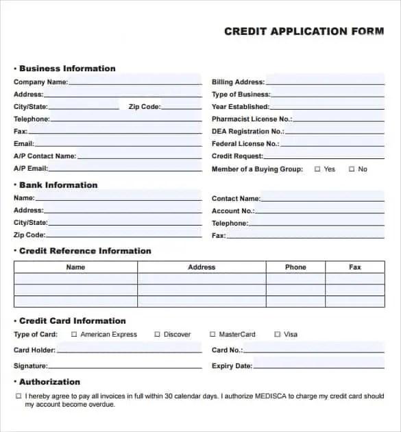 Sample credit card application form zrom inspirational rental credit application form template free friedricerecipe Gallery