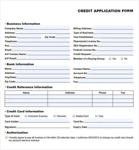 8 credit application templates excel excel templates cheaphphosting