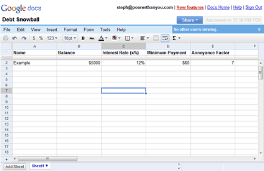 9+ Debt Snowball Excel Templates - Excel Templates