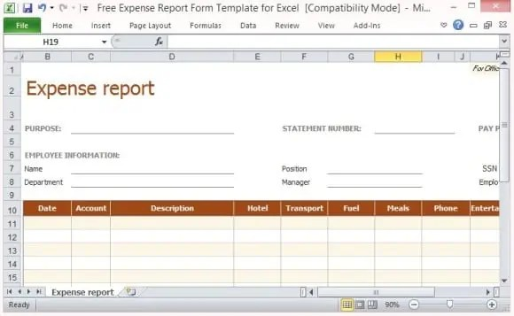 9+ Expense Report Templates - Excel Templates