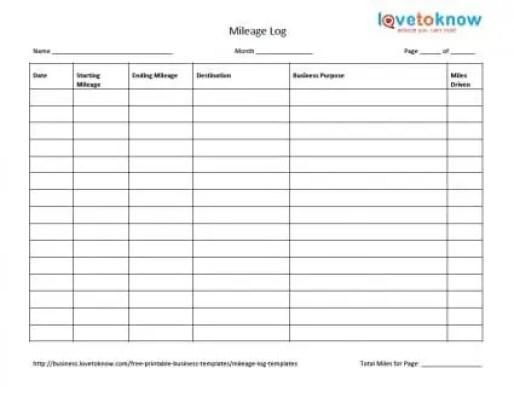 10 excel mileage log templates excel templates