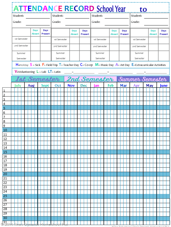 9 Monthly Attendance Sheet Templates Excel Templates – School Attendance Template