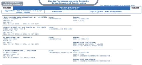supplier list template 3445