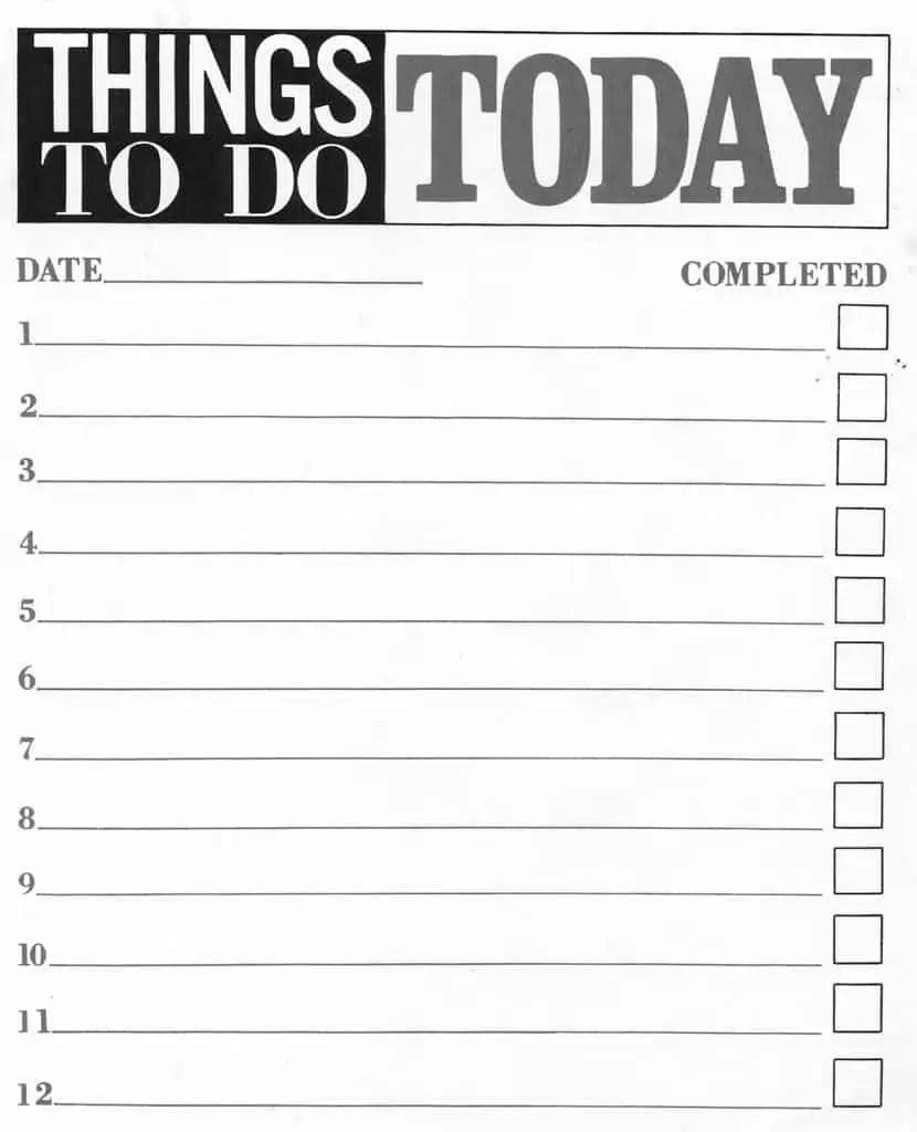 To Do List 25610