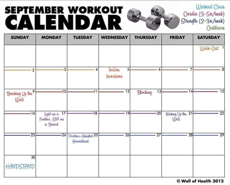 Blank Workout Calendar Template Images Template Design Free Download