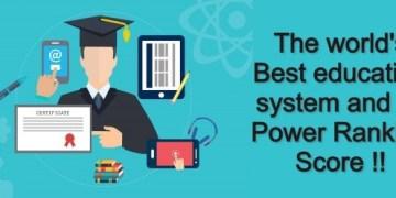 Education system ranking score
