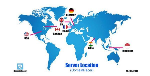 domainracerdata center server location