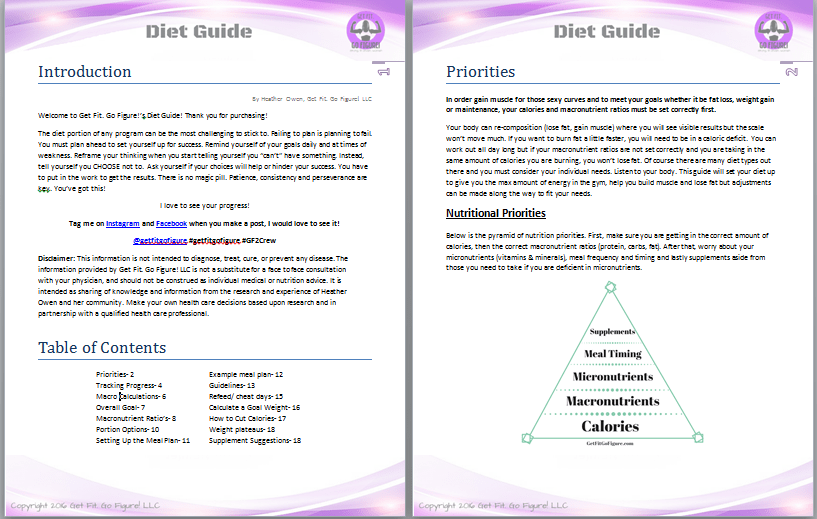 Get Fit. Go Figure! Diet Guide © (e-book)