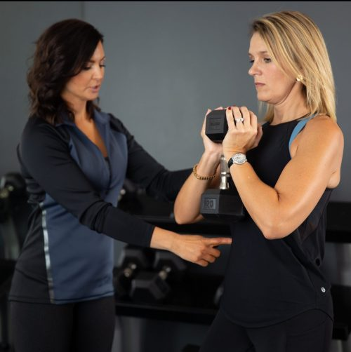 Strength session- Heather and Michelle