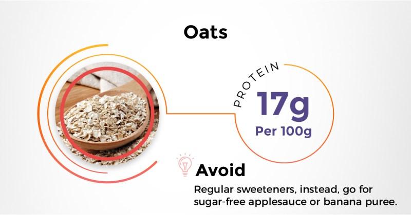 Best Indian protein rich diet - Oats