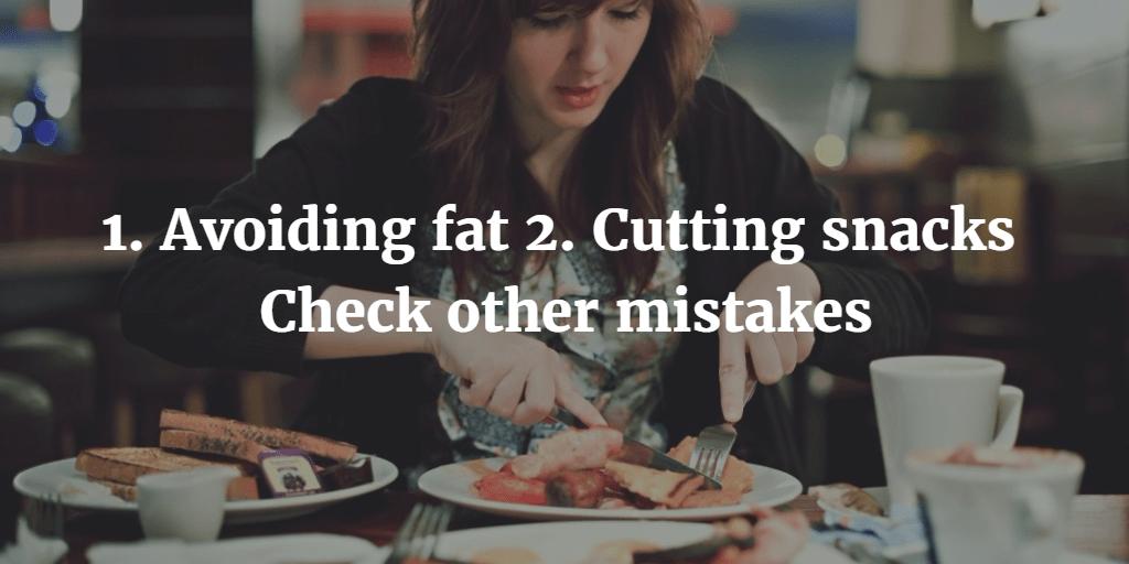 Women weight loss mistake