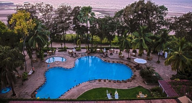 The Resort Hotel: swimming poll in north mumbai