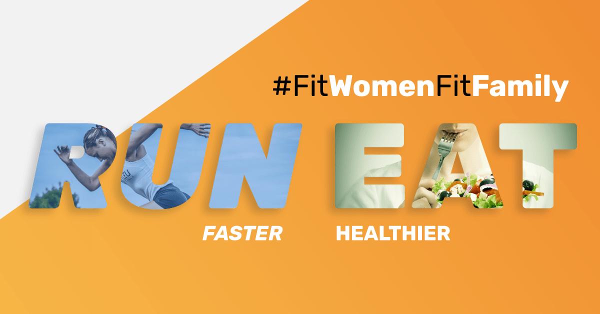 women running + nutrition offer