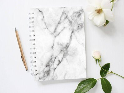 PlanMyEveryday Grey Marble Notebook