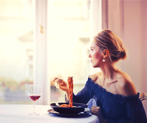 woman eating typical American diet