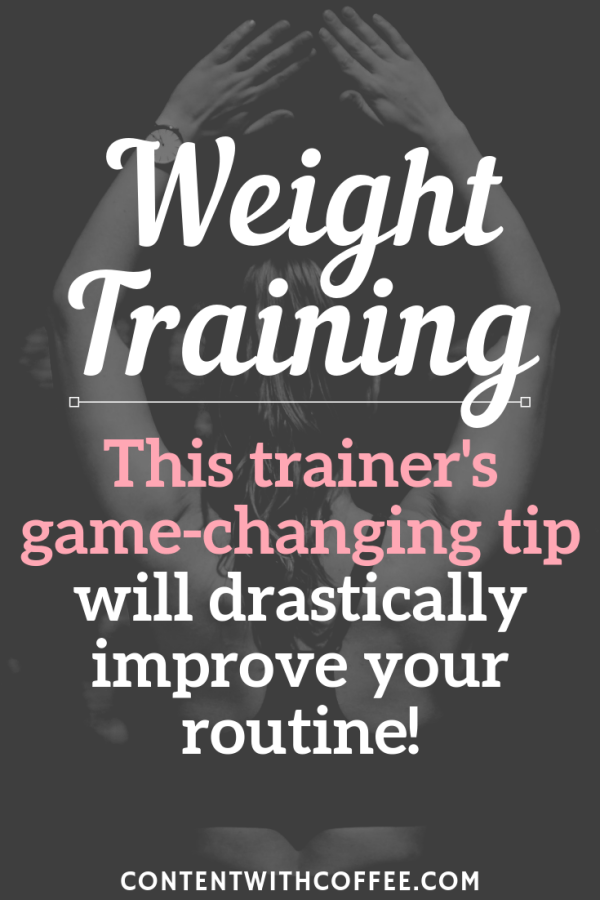 Weight training doesn't have to be complicated. Use this ONE strength and conditioning tip to get the most out of your fitness routine - you'll stay consistent, get stronger, and feel better than ever! #weighttraining #womenweighttraining #strengthtraining #fitnesstraining #strongwomen