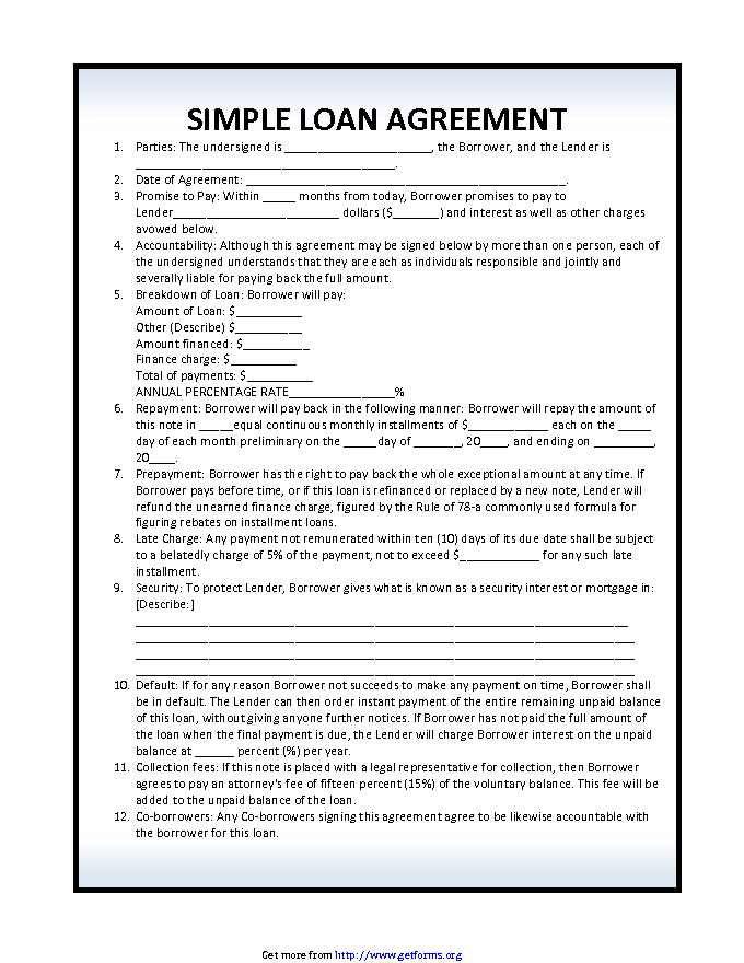 A personal loan agreement is a legal document that is completed by a lender and a borrower to establish the terms and conditions of a loan. Loan Agreement Template 2 Download Loan Form For Free Pdf Or Word
