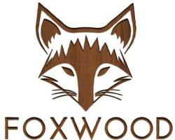 Logo van Foxwood. Webshop gespecialiseerd op houten zonnebrillen.