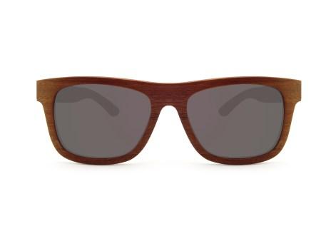 Foto van voorkant van houten zonnebril Fox van merk foxwood