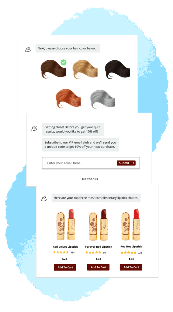 Besame Shoppable Quiz Other Steps
