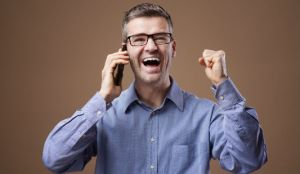 Happy Businesssman Gets Job He Wants