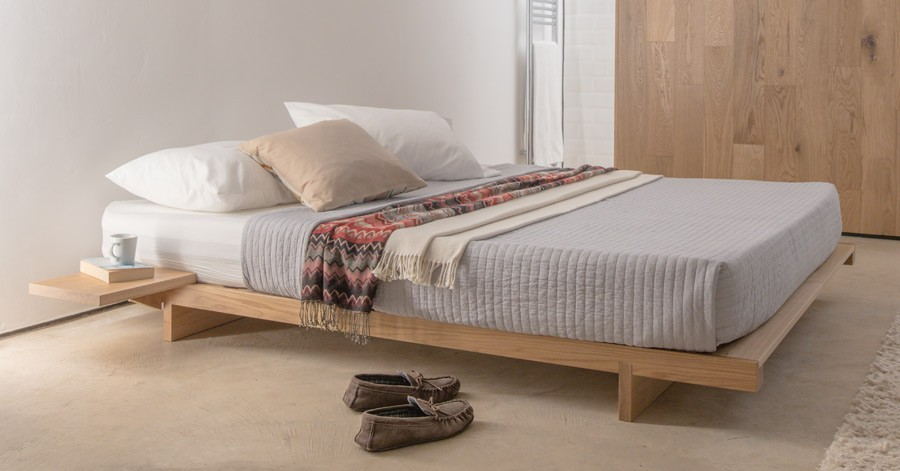 Low Fuji Attic Platform Bed No Headboard Get Laid Beds