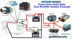 Perfect Switch PowerGate Solid State Mosfet Battery Isolator Dual Rectifiers  100 to 300 Amps