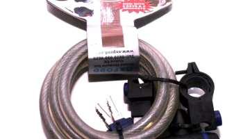 b6bd5d6dd58 Oxford Essential Cycle Lock 1.8m Long Cable Bike 3 Key lock 12mm Clear OF247